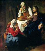 1655年頃マルタとマリアの家のキリスト*45 8.9x.jpg
