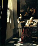 1670年頃手紙を書く婦人と召使い*45 8.9x.jpg