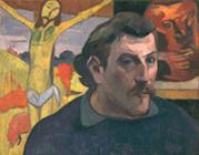 1890-91年ポール・ゴーギャン「黄色いキリストのある自画像」.jpg