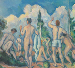 1890年頃ポール・セザンヌ「水浴の男たち」.jpg