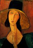 Ⅳ大きな帽子を被ったジャンヌ・エピュテルヌ 1918年*45 8.9x.jpg
