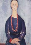 Ⅳ珊瑚の首飾りの女」1918年*45 8.9xj.jpg
