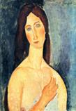 Ⅳ「肩をあらわにしたジャンヌ・エビュテルヌ」1919年ポストカード*45 8.9x.jpg